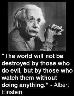 Wake Up America and Fight Evil -- Einstein